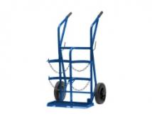 Trolley for 2 gas botlles 20 L diam 2 x 200 mm