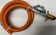 Kit: régulator 37 mbar POL, 1 m hose, 2 hose clamps