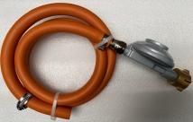 Kit: régulator 37 mbar DIN, 1 m hose, 2 hose clamps