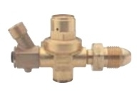 Regulator with hose-failure valve