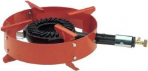 crown burner with rounded footrest and tap butane/propane 28/37 mbar