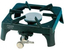 Crown burner with 1 nozzle and tap butane/propane 28/37 mbar