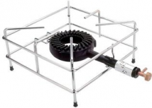 Crown burner with chromed base butane/propane 28/37 mbar